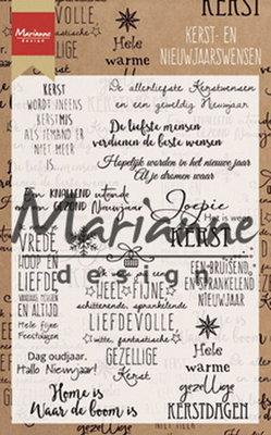 Marianne design - Clear stamp kerst- en nieuwjaarswensen CS1008