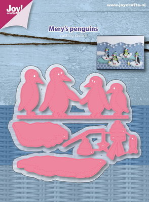 Joy! stencil Mery's pinguins 6002/1119