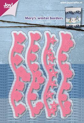 Joy! stencil Mery's wintergolfborders6002/1117