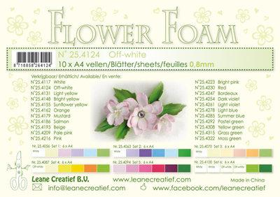 Flower foam sheets a4 Off White LCR25.4124