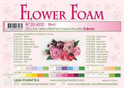Flower foam sheets a4 Red LCR25.4230