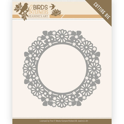 JAD10059 Dies - Jeanine's Art - Birds and Flowers - Flower Circle