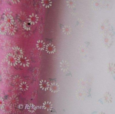 Roze met bloementjes