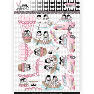 CD11255 3D Knipvel - Yvonne Creations- Pretty Pierrot 2 - Car Trip