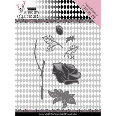 YCD10163 Dies - Yvonne Creations- Pretty Pierrot 2 - Rose