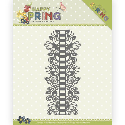 PM10147 Dies - Precious Marieke - Happy Spring - Ribbon Border
