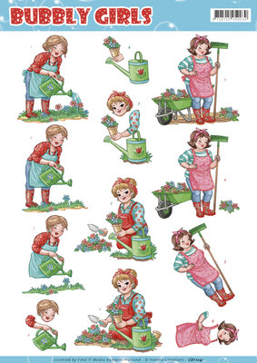 CD11241 3D Knipvel - Yvonne Creations - Bubly Girls Gardening