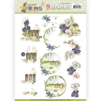 SB10328 3D Pushout - Precious Marieke - Happy Spring - Happy on the Farm