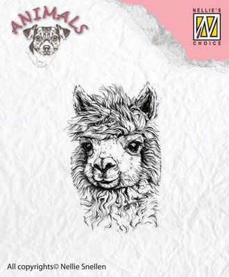 Nellies Choice Clearstempel - Lama ANI014 30x47mm