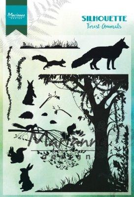 Marianne design, Clear stamp - Silhouette  bos dieren CS1021 1110x150mm