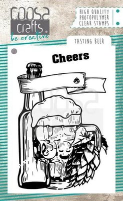 COOSA Crafts clearstamps A7 - Tasting beer COC-062