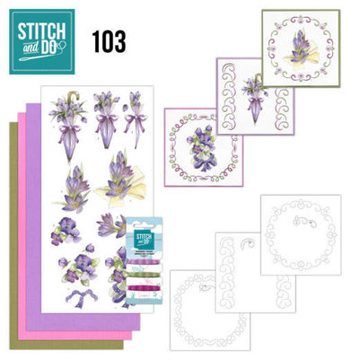 STDO103 Stitch and Do 103 Flowers in Purple