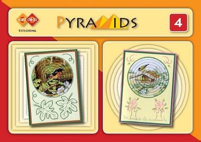PYM004 3D boekje Pyramids 4 - met borduren