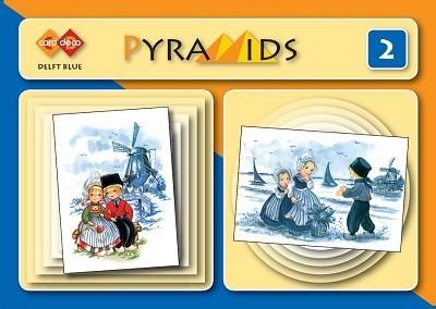 PYM002 3D boekje Pyramids 2- Delfts blauw