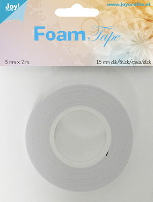 Joy! Foam tape 1,5 mm dik - 5 mm x 2 mtr