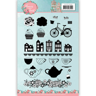 YCCS10048 Clear Stamps - Yvonne Creations - Flowers with a Twist