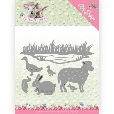 ADD10167 Dies - Amy Design - Spring is Here - Spring Animals