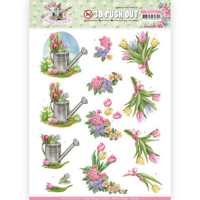 SB10332 3D Pushout - Amy Design - Spring is Here - Tulips