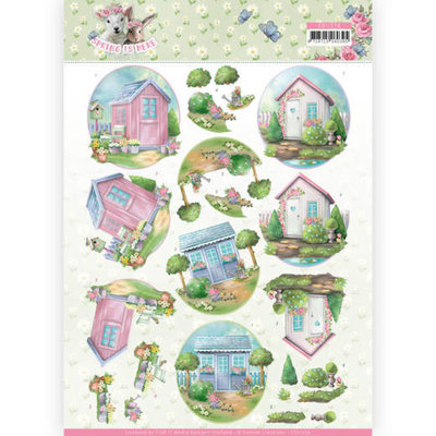 CD11279 3D Knipvel - Amy Design - Spring is Here - Garden Sheds
