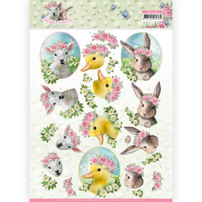 CD11276 3D Knipvel - Amy Design - Spring is Here - Baby Animals