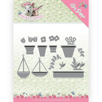 ADD10169 Dies - Amy Design - Spring is Here - Flowerpots