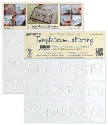 LeCrea - Templates for Handlettering alfabet stijl 2 - 95.5565