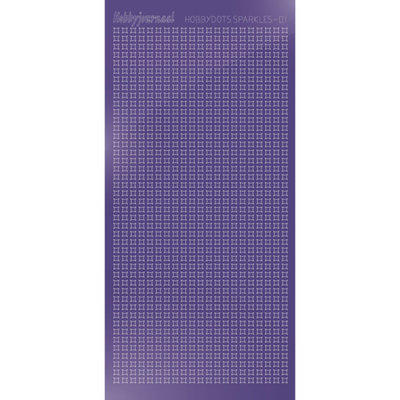 HSPM019 Hobbydots sticker Sparkles 01 Mirror Purple