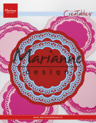 Marianne desgn - LR0592 -   Creatables stencil doily duo