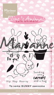 Marianne design, Eline's cute bunnies EC0178