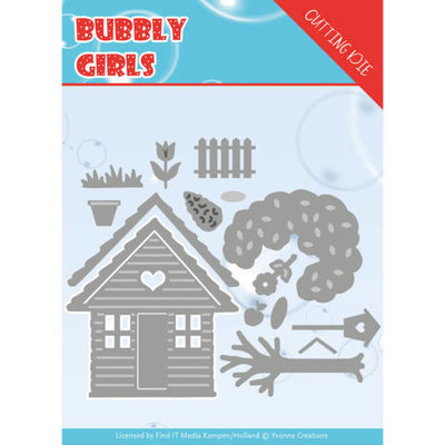 YCD10169 Dies - Yvonne Creations - Bubbly girls- In the Garden
