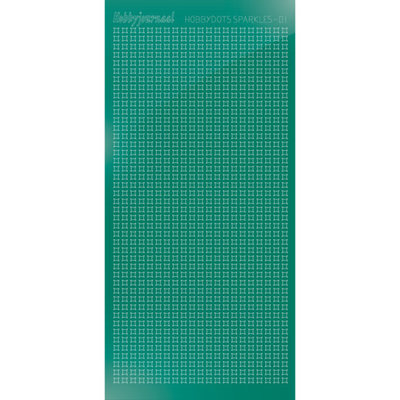 HSPM01J Hobbydots sticker Sparkles 01 Mirror Christmas Green