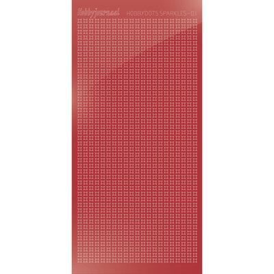HSPM01H Hobbydots sticker Sparkles 01 Mirror Christmas Red