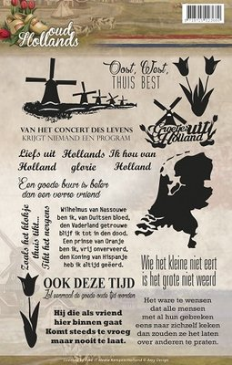 ADCS10006 Clearstamp - Amy Design - Oud Hollands - Tekst