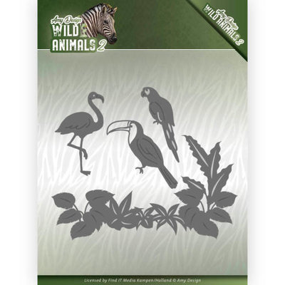 ADD10174 Dies - Amy Design - Wild Animals 2 - Tropical Birds