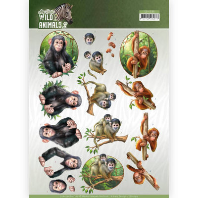 CD11299 3D Knipvel - Amy Design - Wild Animals - Monkeys