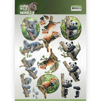 CD11300-HJ17001 3D Knipvel - Amy Design - Wild Animals - Bears