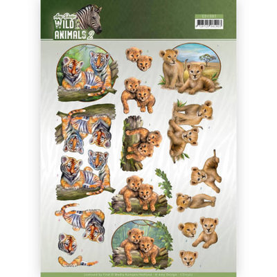 CD11302 3D Knipvel - Amy Design - Wild Animals - Twins