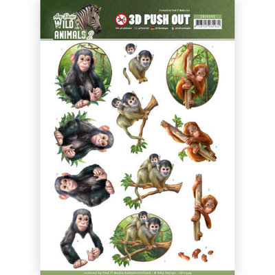 SB10349 3D Pushout - Amy Design - Wild Animals