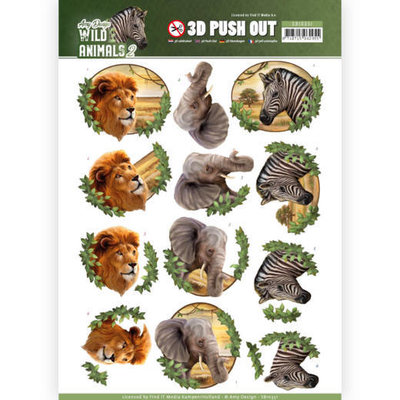 SB10351 3D Pushout - Amy Design - Wild Animals 2 - Africa