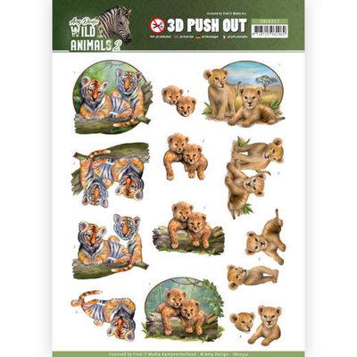 SB10352 3D Pushout - Amy Design - Wild Animals 2 - Twins