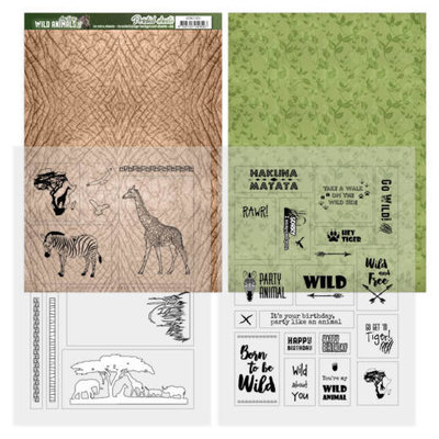 ADMC1001 Printed Sheets - Amy Design - Wild Animals