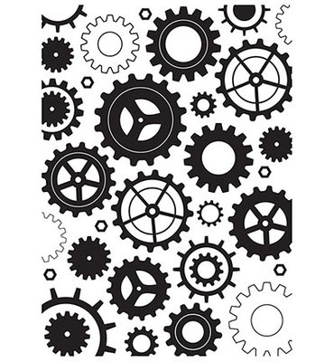 Nellie Snellen - Embossing template - 127x178mm Cogwheels