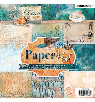 Studio Light - Paper pad - 36 vel Ocean View 3.0 nr 118- PPOV118
