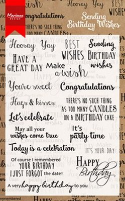 Clear stamp Birthday wishes  CS0996