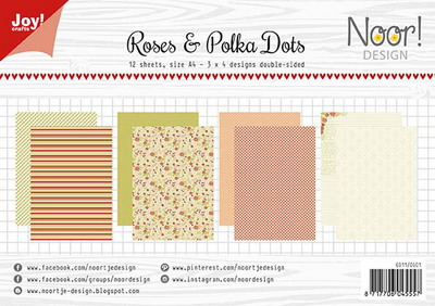 Joy! papierset Roses & polkadots 6011/0601