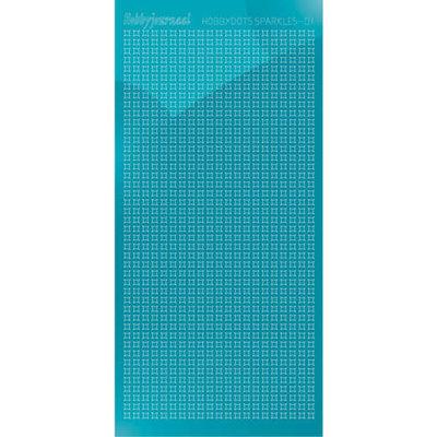 HSPM01M Hobbydots sticker Sparkles 01 Mirror Azure Blue