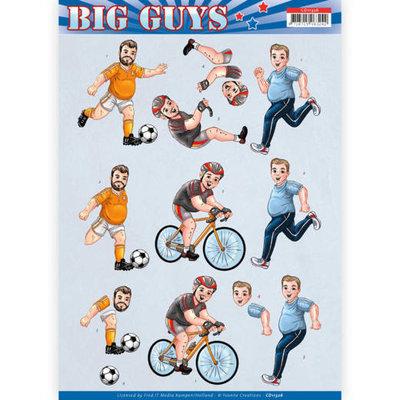 CD11326 3D knipvel - Yvonne Creations- Big Guys - Sports
