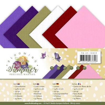 PM-A5-10022 Linnenpakket - A5 - Precious Marieke - Blooming Summer