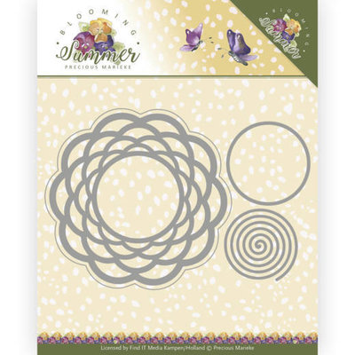 PM10152 Dies - Precious Marieke - Blooming Summer - Braided Circle
