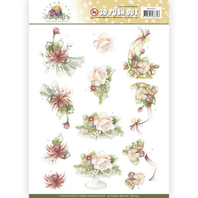 SB10353 3D Pushout - Precious Marieke - Blooming Summer - Sweet Summer Flowers